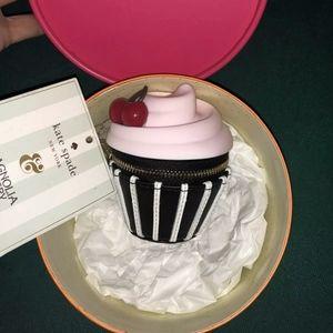 NWT BOX KATE SPADE MAGNOLIA BAKERY CUPCAKE, CHERRY